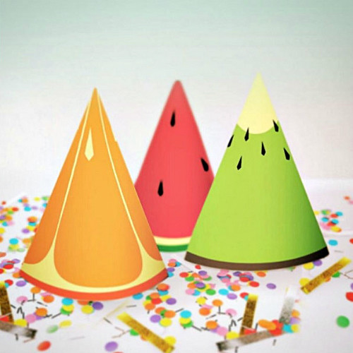 Fruity Party Hats