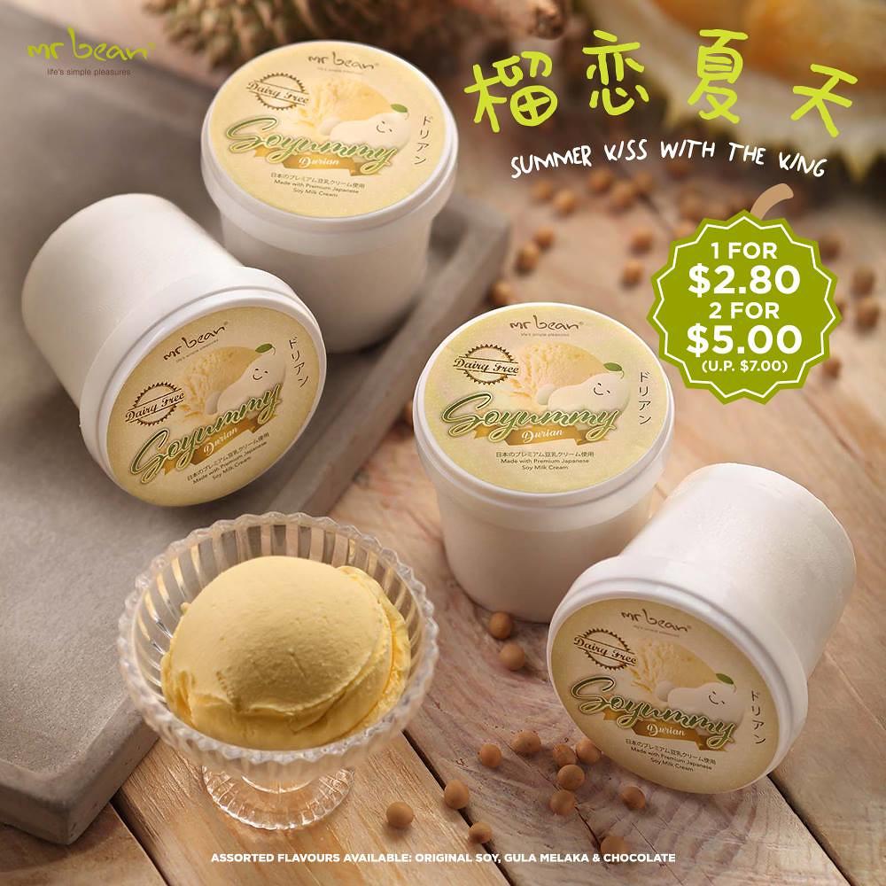 durian, durian ice cream, ice cream, mr bean, singapore, soyummy, gula melaka,