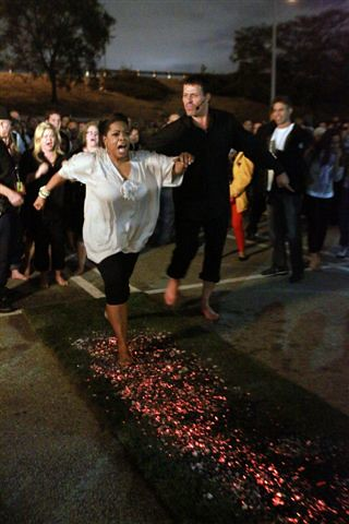 Image result for tony robbins firewalk