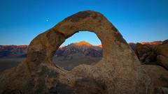Lone Pine Peak Through Whitney Portal Arch @ Dawn