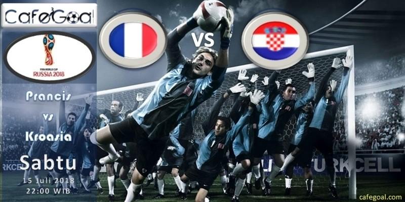 Prediksi Bola Prancis vs Kroasia, hari Minggu, 15 Juli 2018 - Piala Dunia