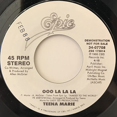 TEENA MARIE:OOO LA LA LA(LABEL SIDE-B)