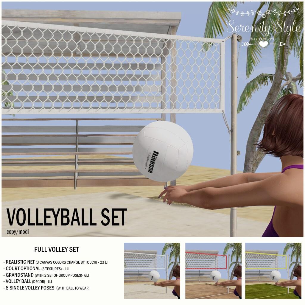Serenity Style- Volleyball Set - TeleportHub.com Live!