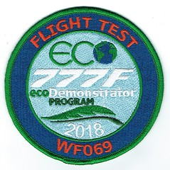 Boeing/Fedex 777F Ecodemonstrator Program Flight Test Patch