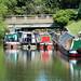 Narrowboats at Ponders End, River Lee Navigation