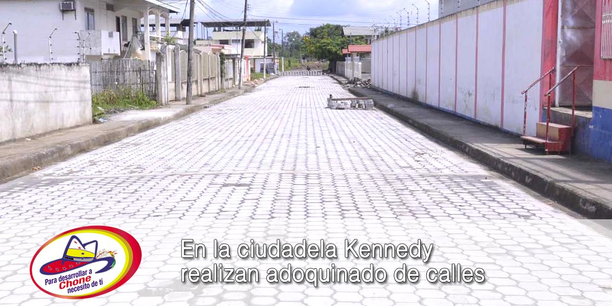 En la ciudadela Kennedy realizan adoquinado de calles
