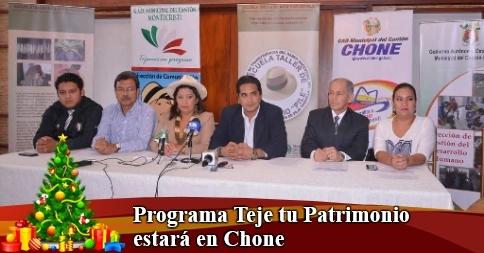 Programa Teje tu Patrimonio estará en Chone