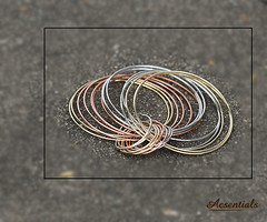 Ethereal Colours of Silver and Gold Bangles