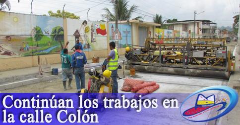 Continúan los trabajos en la calle Colón