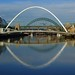 Newcastle upon Tyne Quayside panorama, on a reflective sunny morning by WISEBUYS21