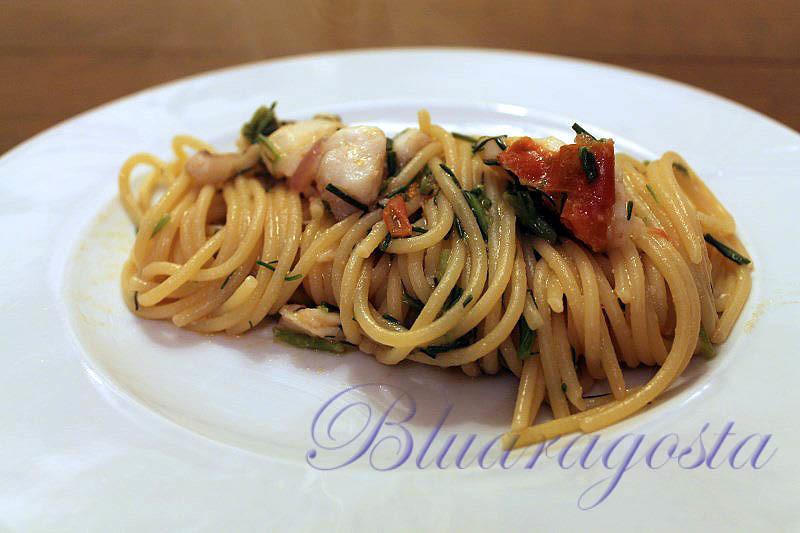 01-spaghetti con sugo di cernia e agretti
