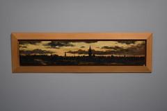 De stad Groningen na zonsondergang (1882) - Gerrit van Houten