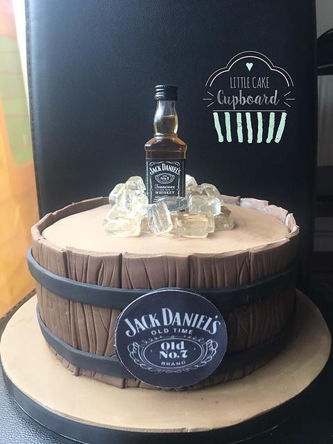 Jack Daniels Barrel Cake by Little Cake Cupboard