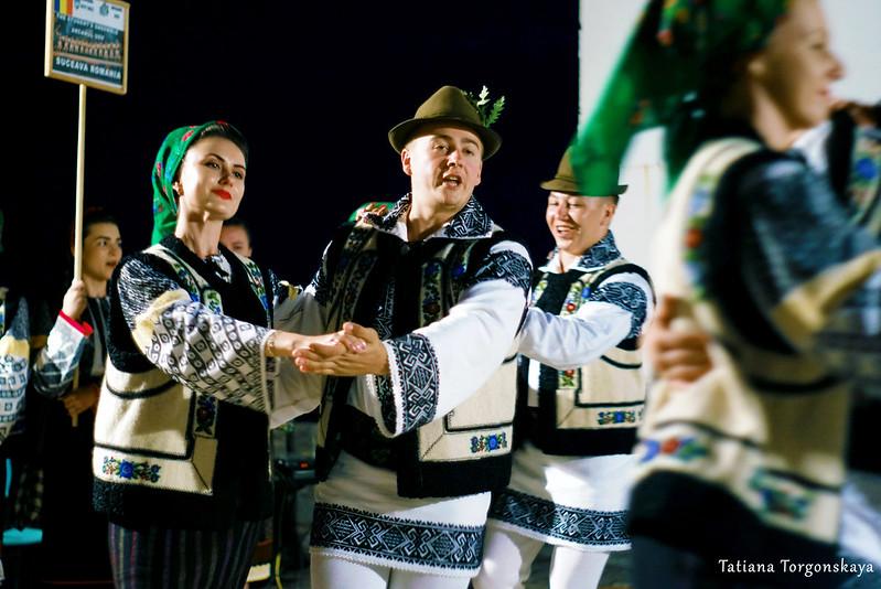 """Выступление румынского фольклорного ансамбля """"Arancul USV"""" на крепости Форте Маре"""