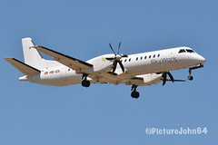 Prop: SX300 Skywork Airlines Saab 2000 (HB-IZS) from Bern Belp arrivin