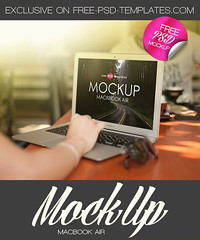 Free MacBook Air Mock-up in PSD