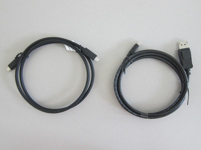 BenQ EW3270U - USB-C to USB-C and DisplayPort to Mini-DisplayPort Cable