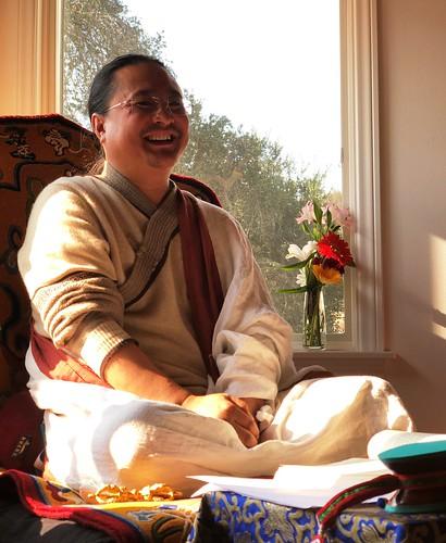Dr. Nida Chenagtsang during his teachings. Image courtesy of Dr. Nida Chenagtsang