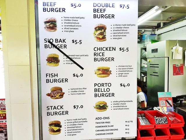 The Humble Burger Menu