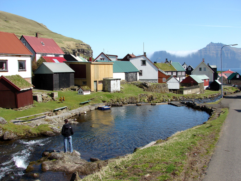 Spring at Gjógv on Eysturoy, Faroe Islands. Photo taken in May 2013.
