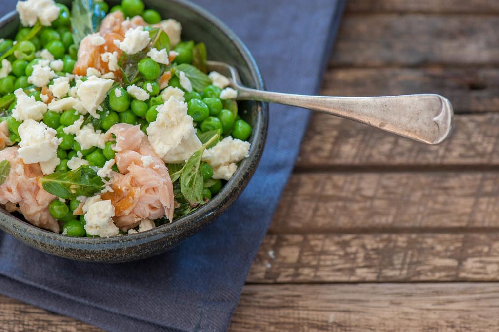 Salmon, Pea & Feta Bowls
