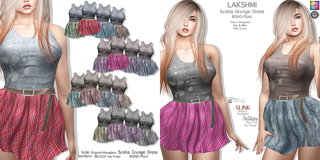 [LAKSHMI]Scotia Grunge Dress