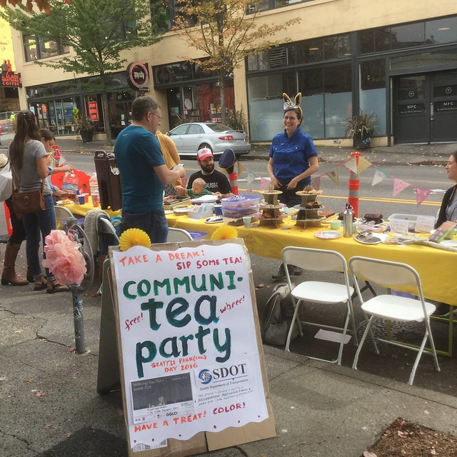 A pop-up park tea party