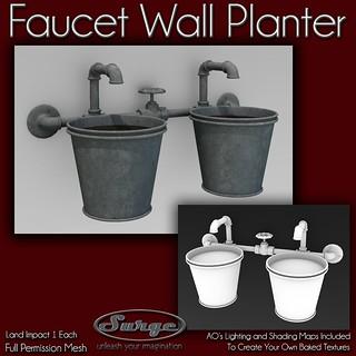 (Surge) Faucet Wall Planter