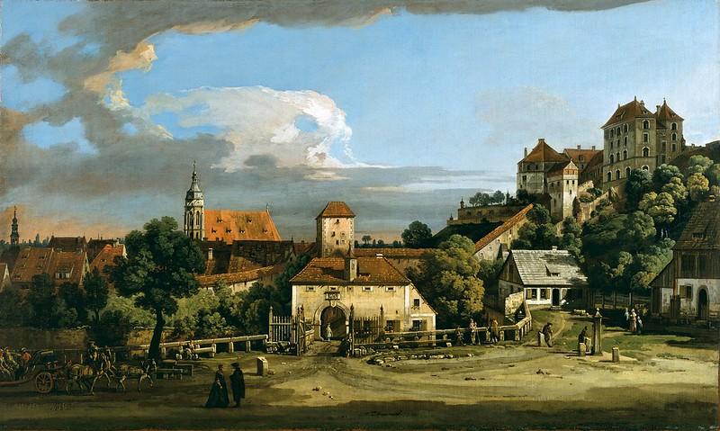 Bernardo Bellotto - Pirna, the Obertor from the South