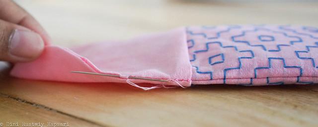 Step 22 - hand stitch
