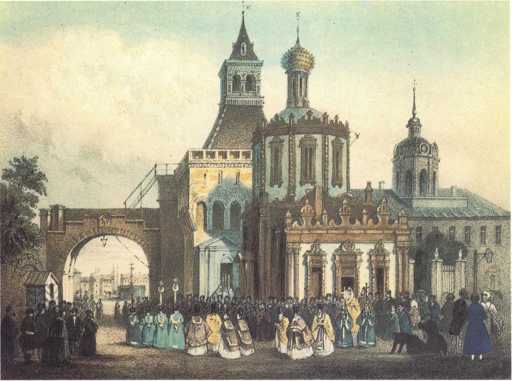 1840-е. Церковь Владимирской Божией Матери. У Никольских ворот Китай-города