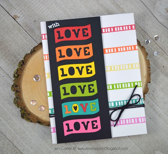 Jen Carter CP Rainbow Love Banner