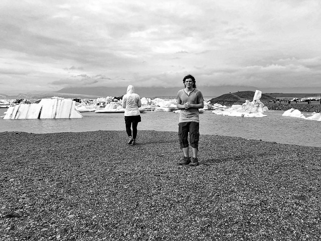 Amy, Miles, and icebergs at Jokusarlon