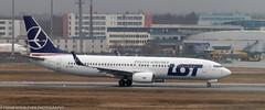 LOT Polish Airlines 737 at FRA