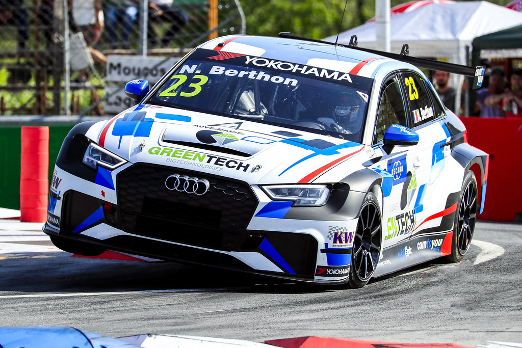 23 BERTHON Nathanael, (fra), Audi RS3 LMS TCR team Comtoyou Racing, action, during the 2018 FIA WTCR World Touring Car cup of Portugal, Vila Real from june 22 to 24 - Photo Paulo Maria / DPPI