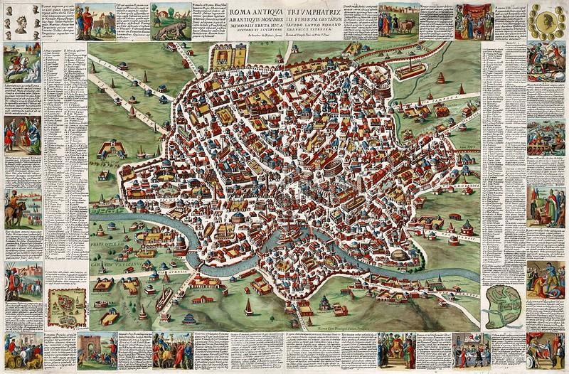 Giacomo Giovanni Rossi - Roma Antiqua Triumphatrix Abantiquis Monumentis et Rerum Gestarum Memoriis Eruta Hic A Iacobo Lauro (1676)