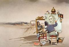 Triple autoportrait de Salvador Dali