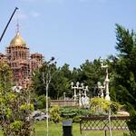 Установка центрального купола кафедрального собора