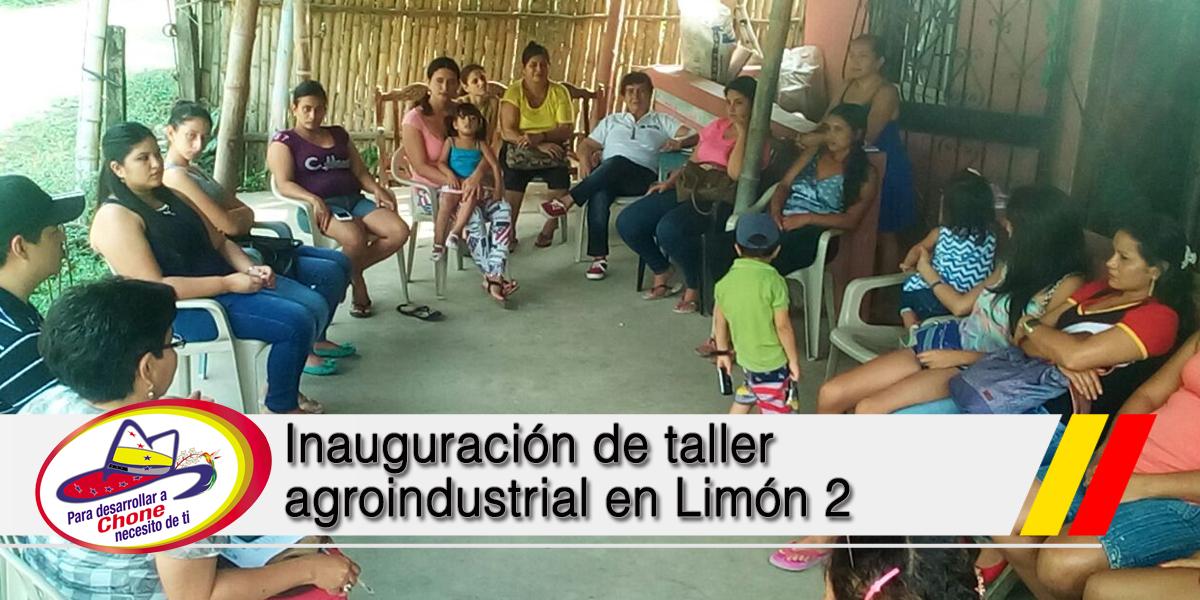 Inauguración de taller agroindustrial en Limón 2