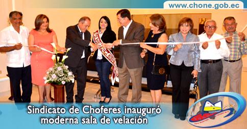Sindicato de Choferes inauguró moderna sala de velación