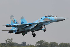 Sukhoi Su-27UB Flanker 71 831 Guards Tactical Aviation Brigade / Ukrai