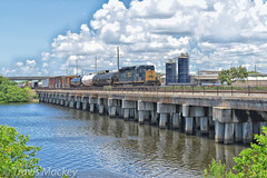 CSX Y204-22 crossing over the Tampa Bypass Canal