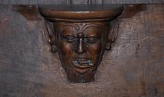 Quaëdypre, Flandre, Nord, Église Saint-Omer, choir, stalls, misericord with ornamented face - Photo of Killem