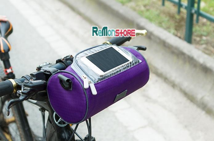 Túi trống đeo chéo - treo xe đạp xe máy SAFEBET chống nước 90% - Tím