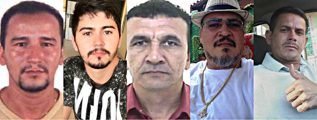 Polícia Civil revela nome e fotos dos foragidos da operação do Detran, Os foragidos do Detran