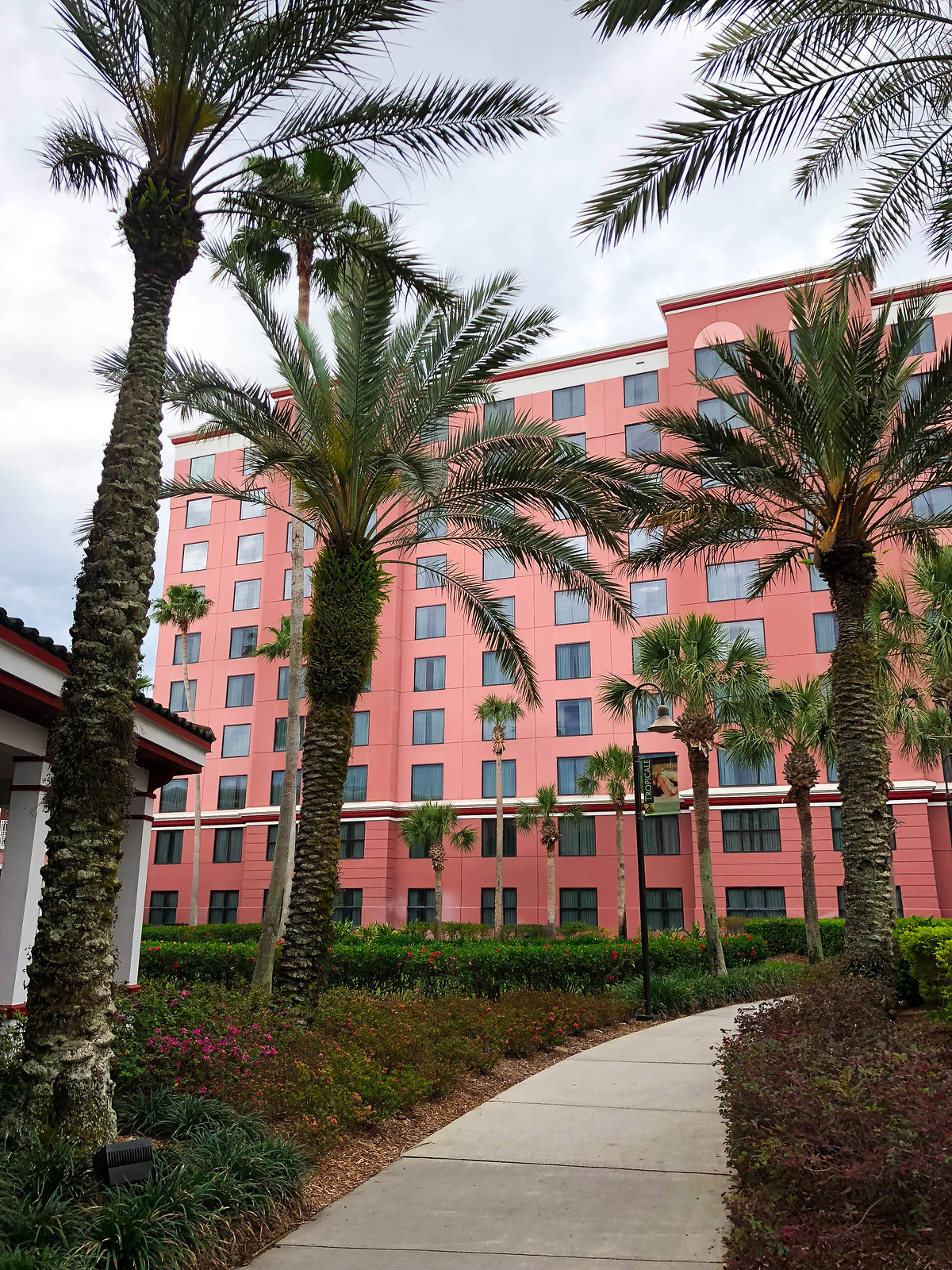 Caribe Royal Orlando Florida Pink Hotel Walt Disney World
