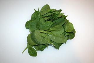 02 - Zutat Baby-Blattspinat / Ingredient baby leaf spinach