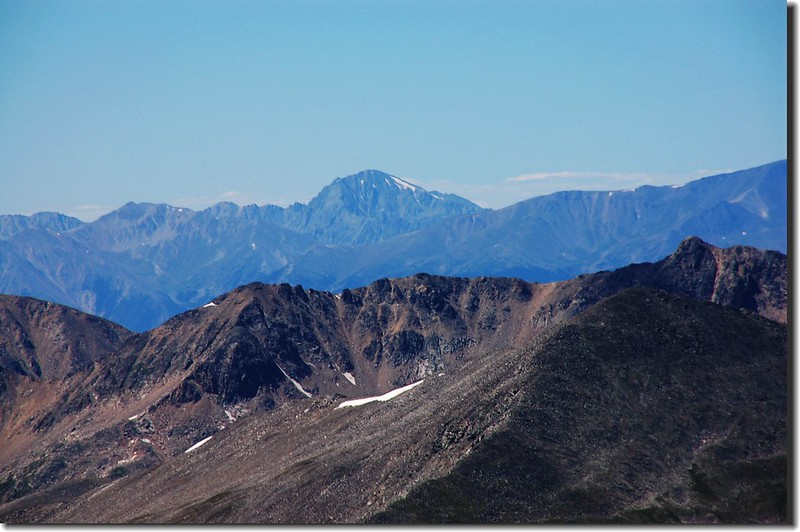 Looking southwest at La Plata Peak from the summit of Quandary Peak