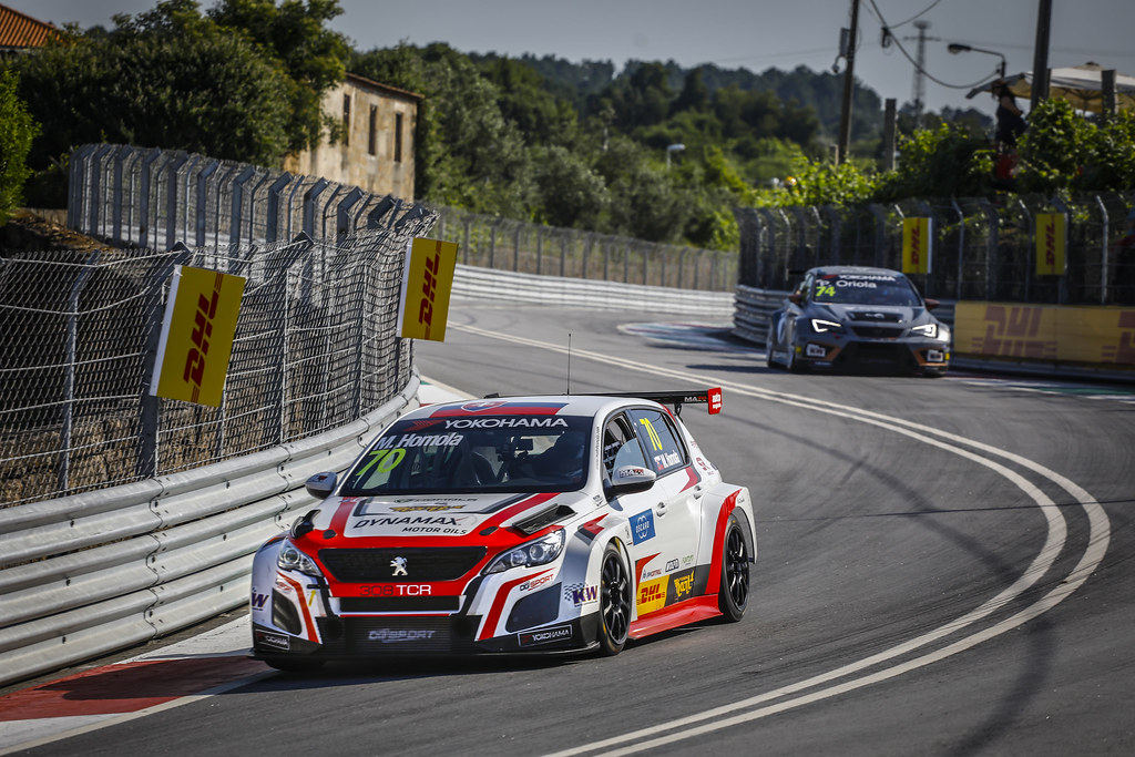 70 HOMOLA Mato, (svk), Peugeot 308 TCR team DG Sport Competition, action during the 2018 FIA WTCR World Touring Car cup of Portugal, Vila Real from june 22 to 24 - Photo Francois Flamand / DPPI