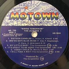 THE JACKSON 5:MAYBE TOMORROW(LABEL SIDE-B)